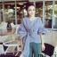 เสื้อแฟชั่นเกาหลี ผูกโบว์ข้างใหญ่ๆ ดูจัดใหญ่จัดเต็มแบบไฮโซมากๆ thumbnail 11