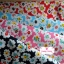 ผ้าคอตตอนไทย 100% 1/4 ม.(50x55ซม.) พื้นสีฟ้า ลายดอกไม้สีขาว thumbnail 3