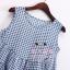 เสื้อแฟชั่นเกาหลีแขนกุด ลายสก็อตเล็กๆ ชายบานๆ สไตล์ตุ๊กตา เบาสบาย ด้วยผ้าชีฟอง SET1 thumbnail 14