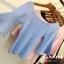 เสื้อยืดคอกลมแฟชั่นแขน 3 ส่วน คอกว้าง ผ้านิ่ม กับสีให้เลือกกันอย่างจุใจ thumbnail 3