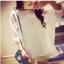 เสื้อแฟชั่นเกาหลี แขนสามส่วน ตัดเย็บผสมผ้าซีทรู ติดโบว์แขนเสื้อน่ารักๆ สวย ดูดี น่ารักฝุดๆ thumbnail 16