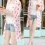 เสื้อคลุมผ้าชีฟองเนื้อนิ่ม เบาสบาย สกรีนลายจุดขนาดกำลังดี เอาไว้ปกป้องผิวสาวขาวๆ จาก UV thumbnail 15