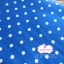 ผ้าคอตตอนลินิน 1/4ม.(50x55ซม.) พื้นสีน้ำเงิน ลายจุดสีขาว thumbnail 3