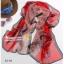 ผ้าพันคอผ้าPolyester+ผ้าไหม ลายโซ่สีแดง ( รหัส P111 ) thumbnail 1