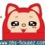 ผ้าคลุมไหล่ มีฮู้ด จิ้งจอก สีแดง ตาเป็นประกาย ## พร้อมส่งค่ะ ## thumbnail 1