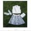 ชุดเซ็ทเสื้อเอวลอย พร้อมกระโปรงลายสวย สีสด น่ารักและลงตัวมากๆ thumbnail 6