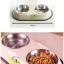 ชามอาหารสุนัขและแมวแบบคู่ thumbnail 1