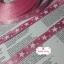 ริบบิ้นผ้าสีชมพู ลายดาวสีขาว กว้าง 1 ซม. thumbnail 3