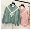 เสื้อกันหนาวแฟชั่นเกาหลี สีสวยๆ สไตล์หนังเกาหลี แต่งด้วยโบว์ให้อารมณ์ย้อนยุคนิดๆ thumbnail 2