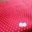 ผ้าคอตตอน 100% 1/4 ม.(50x55ซม.) พื้นสีแดง ลายจุดเล็กสีขาว thumbnail 4