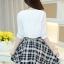 เดรสแฟชั่นเกาหลี ตัวเสื้อผ้าชีฟองสีพื้น รับกับกระโปรงลายสก็อตลายสวย thumbnail 15