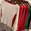 เสื้อยืดคอกลมแฟชั่นแขน 3 ส่วน คอกว้าง ผ้านิ่ม กับสีให้เลือกกันอย่างจุใจ thumbnail 20