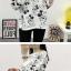 เสื้อยืดแขนยาว 5 ส่วน ลายการ์ตูนน่ารักๆ ดูสวยกำลังดี thumbnail 10