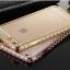 Case iphone 6 Plus / 6s Plus (TPU Case) เคสใสหุ้มหลังเครื่องขอบ Bumper สีทองฝังเพชร thumbnail 1