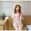 เสื้อชีฟองพิมพ์ลายผีเสื้อสุดสวย สีหวานโทรพาสเทล เย็นสบายตามแบบผ้าชีฟอง thumbnail 2