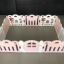 คอกกั้นเด็ก Haenim new สีชมพู-ขาว รุ่น Petit - ขนาด 10 แผ่น thumbnail 4