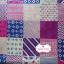 ผ้าคอตตอนไทย 100% 1/4 ม.(50x55ซม.) โทนสีชมพูลายต่อผ้า สมอเรือ thumbnail 1