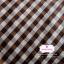 ผ้าคอตตอนไทย 100% 1/4ม.(50x55ซม.) ลายตารางโทนสีน้ำตาล thumbnail 1