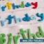สายผ้าคาด ผ้าห่มม้วนตุ๊กตา วันเกิด (Happy Birthday) สีขาว ## พร้อมส่งค่ะ ## thumbnail 4