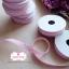 ริบบิ้นผ้า สีชมพูลายจุดสีขาว 1ม้วน (ยาว 2 หลา) thumbnail 2