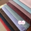 ผ้าคอตตอนลินิน 100% 1/4 เมตร พื้นสีเทา ลายจุดเล็กสีขาว thumbnail 4