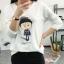เสื้อยืดคอกลม สกรีนลายตัวการ์ตูน ดูน่ารัก กวนๆ ลงบนผ้าเนื้อนิ่ม ใส่สบายมากๆ ค่ะ thumbnail 4