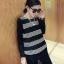 เสื้อยืดแขนยาวเกาหลี ขายขวาง ใส่สบายด้วยเนื้อผ้าที่ยืดหยุ่น มีให้เลือก 2 สไตล์ thumbnail 5