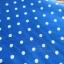 ผ้าคอตตอนลินิน 1/4ม.(50x55ซม.) พื้นสีน้ำเงิน ลายจุดสีขาว thumbnail 2