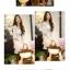 เดรสสั้นเกาหลีทรงคอวีจาก Mayuki ลายดอกไม้ เหมาะสำหรับสาวอยากหวาน thumbnail 8