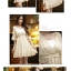 เดรสสั้นเกาหลีทรงคอวีจาก Mayuki ลายดอกไม้ เหมาะสำหรับสาวอยากหวาน thumbnail 4