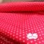 ผ้าคอตตอน 100% 1/4 ม.(50x55ซม.) พื้นสีแดง ลายจุดเล็กสีขาว thumbnail 5