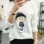 เสื้อยืดคอกลม สกรีนลายตัวการ์ตูน ดูน่ารัก กวนๆ ลงบนผ้าเนื้อนิ่ม ใส่สบายมากๆ ค่ะ thumbnail 3