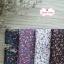 ผ้าคอตตอนไทย 100% 1/4 ม.(50x55ซม.) พื้นสีม่วง ลายดอกไม้เล็ก thumbnail 2