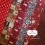 Set 6 ชิ้น : ผ้าคอตตอน 100% โทนสีแดง 6 ลาย ชิ้นละ1/8 ม.(50x27.5ซม.) thumbnail 1