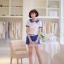 เสื้อแฟชั่นเกาหลีแขนตุ๊กตาี เก๋ๆ ด้วยลายขวาง สลับกับผ้าชีฟองแบบซีทรู น่ารักแบบสาวๆ วัยใส thumbnail 2
