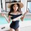 ชุดว่ายน้ำแฟชั่นสวยๆ แบบวันพีช ออกแบบให้ใส่ได้ทั้งแบบเกาะอกและคล้องคอ thumbnail 1