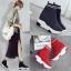 *Pre Order* Rosewood รองเท้าบู๊ทส์ถุงเท้าสูง แฟชั่นสไตล์เกาหลี/สูง 8 cm. size 34-39 สีดำ/แดง