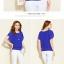 เสื้อแฟชั่นสตรีคอกลม พริ้วไหวด้วยผ้าชีฟอง เย็นสบาย ไม่อึดอัด มีให้คุณได้เลือกถึง 4 สี 7 ไซด์ thumbnail 11
