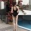 ชุดว่ายน้ำวันพีช สีดำ เว้าโชว์สัดส่วนตำแหน่งสวยๆ ดูเรียบง่ายแต่แฝงไปด้วยเสน่ห์ thumbnail 1