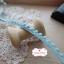 ลูกไม้แต่งปอมปอมเล็กสีฟ้าอ่อน กว้าง 0.9 ซ.ม. แบ่งขายเป็นหลา thumbnail 4