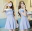 เดรสแฟชั่นเกาหลี เปิดไหล่นิดๆ กับสีพาสเทลหวานๆ ดูเข้ากันกำลังดีเลยค่ะสาวๆ thumbnail 1