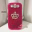 เคสซัมซุง Galaxy S3 เคสกากเพชรชมพู ประดับมงกุฏสีทอง thumbnail 1
