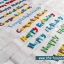 สายผ้าคาด หมอนอิงตุ๊กตา วันเกิด (Happy Birthday) สีขาว ## พร้อมส่งค่ะ ## thumbnail 6