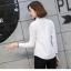 เสื้อเชิ้ตแขนยาวแฟชั่นยอดนิยม โดดเด่นกว่าคนอื่นด้วยแถบสีที่สาบเสื้อและแขนเสื้อ thumbnail 8