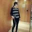 เสื้อยืดแขนยาวเกาหลี ขายขวาง ใส่สบายด้วยเนื้อผ้าที่ยืดหยุ่น มีให้เลือก 2 สไตล์ thumbnail 8