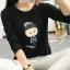 เสื้อยืดคอกลม สกรีนลายตัวการ์ตูน ดูน่ารัก กวนๆ ลงบนผ้าเนื้อนิ่ม ใส่สบายมากๆ ค่ะ thumbnail 15