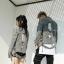 *Pre Order*Denim Jacket hip-hop แฟชั่นญี่ปุ่นชาย/หญิง size S-2XL
