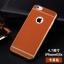เคสไอโฟน 7 (TPU Case) ลายหนังสีน้ำตาลส้ม ขอบทองคลุมรอบเครื่อง thumbnail 1