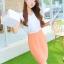 เดรสสั้นเกาหลี มาแบบตัดเย็บทูโทน เสื้อสีขาวเข้าคู่กับกระโปรงสีสวย ใส่สบายด้วยผ้าแบบชีฟอง thumbnail 3