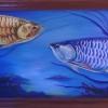 ปลามังกร สี acrylic